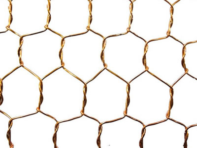 Brass Copper Bronze Hexagonal Wire Mesh For Decoration
