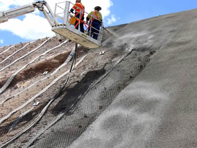 Hexagonal Wire Mesh is Suitable for Slope Shotcrete